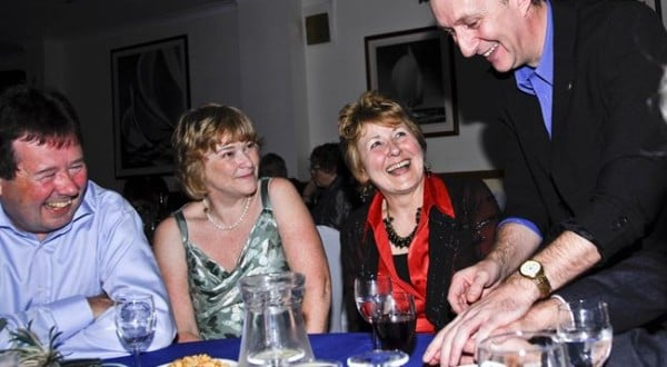 Close up Table Magician Hampshire Magic OZ